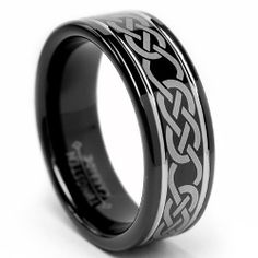 8MM Black CELTIC Tungsten Carbide Ring Wedding Band Sizes 7 to 12 Metal Masters Co.. $67.99. Comfort Fit. Genuine Tungsten Carbide (Cobalt Free). Comes with a FREE Ring Box!!. Beware of Imitated Replicas. 30-Day Money Back Guarantee