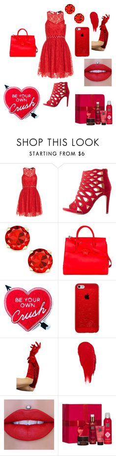 """""""red set"""" by melisa-44 ❤ liked on Polyvore featuring beauty, StyleStalker, Delicious, Versace, Yvng Pearl, Rodin and Rituals"""