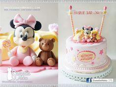 Baby minnie cake www.facebook.com/sweetieneko