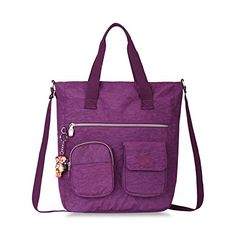 Oiwas Nylon Casual Tote Bag Shoulder Bag For Women Voilet ** You can find more details by visiting the image link.