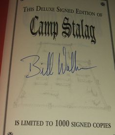 Signed limited First edition of Camp Stalag by Bill Walker Fine copy
