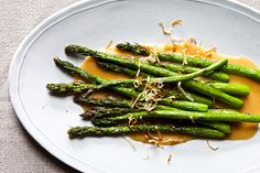 Nobu's Fried Asparagus with Miso Dressing-minus the dressing sounds alot like Smash Burgers Veggie Frites