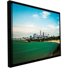 Cody York Cleveland 22 inch Floater-Framed Gallery-Wrapped Canvas, Size: 16 x 24, Green