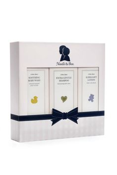 Starter Gift Set contains: Soothing Body Wash Extra Gentle Shampoo Super Soft Lotion 3 products, 8 ounce each Noodle & Boo combines highly desirable, quality products with timeless elegance. We take pride in presentation because we believe it is extra special to receive a beautifully appointed gift.   Baby Gift Set by Noodle & Boo. Home & Gifts - Gifts - Gifts by Occasion - Baby & Kids Rhode Island