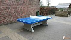 Pingpongtafel Afgerond Blauw bij Basisschool Beuk & Noot in Zoersel