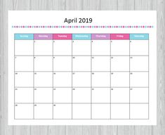 February 2019 Blank Planner Template Monthly Calendar Templates