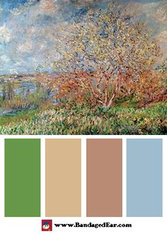 Spring Color Palette: Spring by Claude Monet