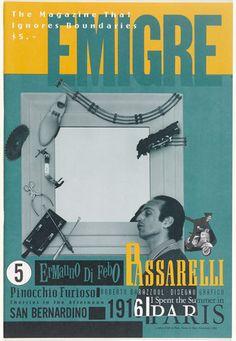 Emigre 5: Edizione Italo-Francese. Berkeley, CA: Emigre Graphics, 1986. Rudy Vanderlans, Zuzana Licko.