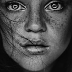 I am all about the eyes - haunting as they are - it is almost as though you can see into the soul.