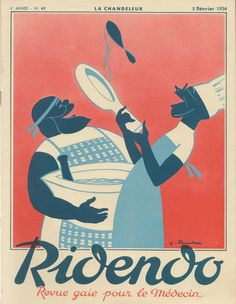 Cover of the French magazine Ridendo (Fen. 1936) by Jacques Touchet.