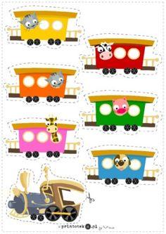 Kolorowe wagoniki - Printoteka.pl Polish Language, File Folder Games, Printable Activities For Kids, Montessori, Homeschool, Clip Art, Printables, Letters, Children