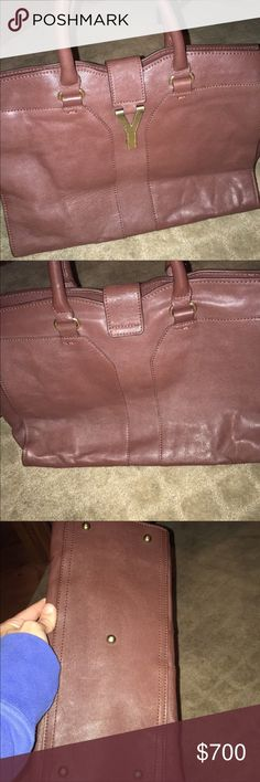 Yves Saint Laurent brown purse In very good condition. A little dusty on one side but not very noticeable. Yves Saint Laurent Bags Mini Bags