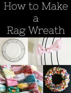 How to Make a Rag Wreath - Simple Simon and Company Christmas Mesh Wreaths, Deco Mesh Wreaths, Rag Wreaths, Spring Wreaths, Door Wreaths, Winter Wreaths, Ribbon Wreaths, Summer Wreath, Floral Wreaths