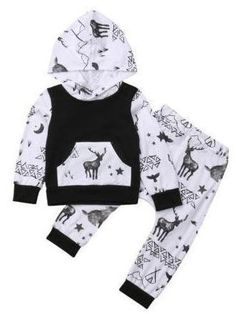 Toddler Infant Baby Boys Deer Long Sleeve Hoodie Tops Sweatsuit Pants Outfit Set for sale online Baby Outfits, Vest Outfits, Pants Outfit, Kids Outfits, Newborn Outfits, Work Outfits, Baby Driver, Baby Boy Fashion, Kids Fashion