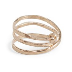 Coiled Knot Ring, Yellow Gold - New Jewelry - Catbird
