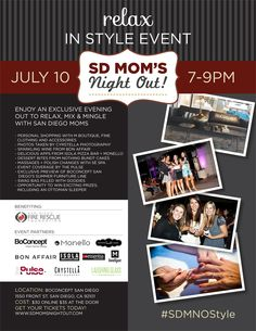 Know a mom who could use a night out. Invite her with this flyer! #themorethemerrier