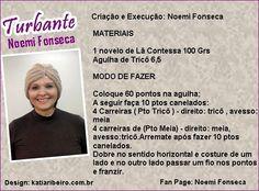 Katia Ribeiro Moda & Decoração Handmade: Turbante em Tricô com Receita…