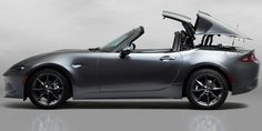 Mazda recently revealed the hardtop convertible Miata – RF. Here are 7 things you may not have known about Mazda's latest sports car. Mazda Mx 5 Miata, Porsche 911 Targa, Miata Hardtop, 2019 Ford Ranger, Hd Wallpaper Iphone, Wallpaper Maker, Wallpaper Desktop, Black Wallpaper, Cars