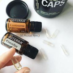 Copaiba Frankincense Two powerhouse oils for healthy inflammatory support, cellular support, nervous system support, skin and brain health...the list goes on and on. If you are thinking those sound like benefits you would like to take part in, simply make a capsule with 4 drops each and take 1-2 times a day. Some experience instant results, others need consistent use for several weeks for their bodies to calm down and accept the gift. What a gift it is