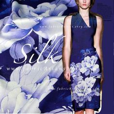 Items similar to Indigo midnight blue Silk satin peony fabric on Etsy Blue Fabric, Silk Fabric, Blue Peonies, Blue Dresses, Formal Dresses, Blue Fashion, Midnight Blue, Silk Satin, Sewing Hacks