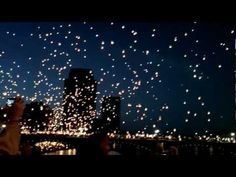Friday Sept Downtown Grand Rapids for an INCREDIBLE Art Prize entry - Sky Lanterns are released! It is almost impossible to describe! - YOU just have to watch!