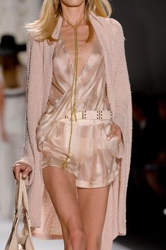 Rachel Zoe Spring 2013 - This is ABSOLUTELY BEAUTIFUL! I love anything this shade of peachy/pink and combining it with silk material is just PERFECT!