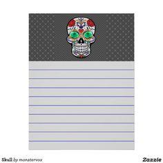 Skull Letterhead #Skull #Bone #Skeleton #Flower #Rose #Holiday #Halloween #Stationery #Letterhead