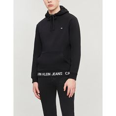 Ck Jeans Logo-trim Cotton Hoody In Ck Black Ck Calvin Klein, Calvin Klein Jeans, Ck Jeans, Looks Great, Hooded Jacket, Joggers, Cotton Fabric, Hoody, How To Wear