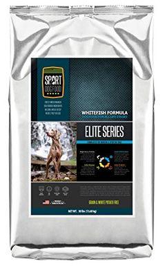 SportDogFood Elite Grain Free Dog Food, Whitefish, 30-Pou...