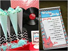 rock and roll themed baby shower