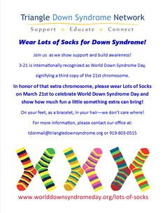 Celebrate World Down Syndrome Day on with the Lots of Socks awareness campaign! Down Syndrome Awareness Day, Down Syndrome Kids, October Awareness Month, My Dreams In Life, Lots Of Socks, March 21st, Disability Awareness, Awareness Campaign, Color Activities