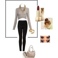 A fashion look from December 2014 featuring Topshop jeans, Gianvito Rossi ankle booties and BCBGMAXAZRIA necklaces. Browse and shop related looks.