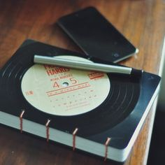recycled vinyl record journal