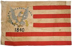 1840 Hand-painted Flag with Eagle, Purportedly Flown at Sutter's Fort - Cowan's Auctions