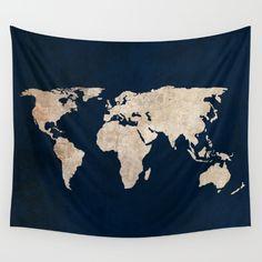 world map, navy, blue, travel...