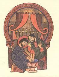 Lavado de pies por parte de Jesus
