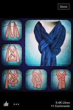 Easy Scarf Knot. Step By Step