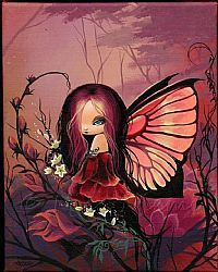 Art: Flowers and Fairy by Artist Nico Niemi