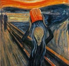 Ice Bucket Challenge by Edvard Munch. The meme for the summer of 2014.