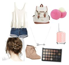 """First Day"" by avy27 on Polyvore featuring H&M, Nature Breeze, Wet Seal, Adina Reyter, Eos and Essie"