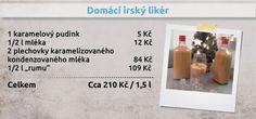 Domácí irský likér Drinks, Food, Drinking, Beverages, Essen, Drink, Meals, Yemek, Beverage