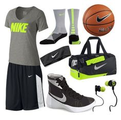 Basketball Practice Outfit by reganshea29 ❤ liked on Polyvore featuring moda, NIKE e Monster
