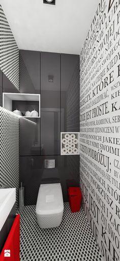"""Mieszkanie 64 m2 z """"loftowym"""" akcentem. - Łazienka, styl nowoczesny - zdjęcie od…"""