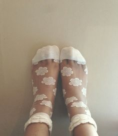 Lace cloud socks