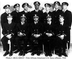 """February 16, 1944 - This date in 1944 celebrates """"The Golden Thirteen."""" This was the first African American naval officer-training group in America. In January of that year, the naval officer corps was all white. There were some one hundred thousand African American enlisted men in the Navy, yet none were officers. In response to growing pressure from American civil rights organizations, the leaders of the Navy reluctantly tackled commissioning a few as officers. Sixteen Black enlisted men…"""