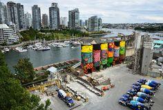 giants industrial silos graffiti - os gemeos