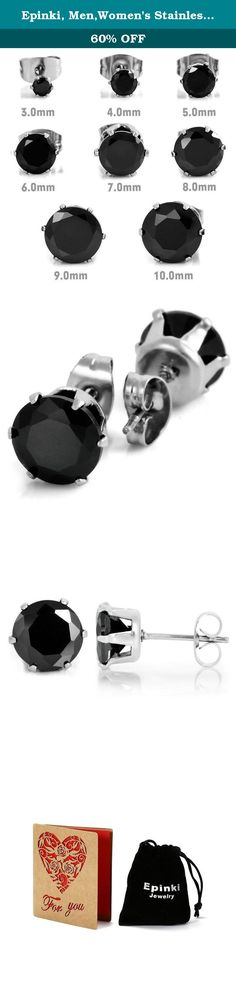 Epinki, Men,Women's Stainless Steel Studs Earrings CZ Black Royal King Crown Flower Vintage Elegant 3~10mm. About the product: Material:All the products in our store made from high quality material,and wear comfortable; Product Color:The same as the picture.(Maybe a little chromatic aberration) About or service:We will do our best to solve any problems and provide you with the best customer services.If you have any questions,welcome to contact us by email.We will reply you as soon as...