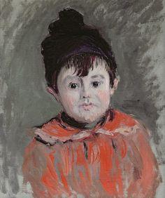 Portrait de Michel Monet en bonnet à pompon - Claude Monet,1880.