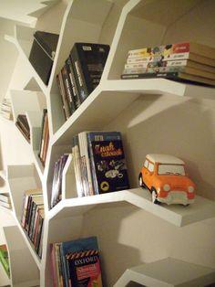 półka drzewo; półka na książki