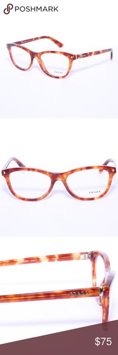 PRADA VPR 05R 4BW-1O1 Light Havana Brown 53mm RX PRADA VPR 05R 4BW-1O1 Light Havana Brown 53mm RX Eyeglasses Brand new 100% authentic   Comes with Generic Case, NO Pouch Prada Accessories Glasses
